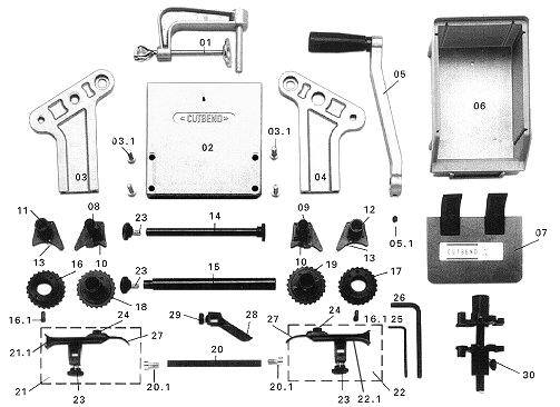 Cutbend Model 1.0mm Spare Parts